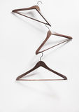 Image of empty hangers on white background Royalty Free Stock Photos