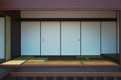 Image of the empty interior main room in the Japanese style. Royalty Free Stock Image