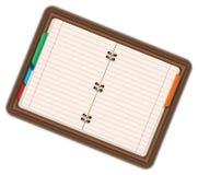 Image of empty notebook, pocketbook, diary. Cartoon illustration  on white background. Stock Photos