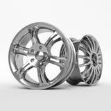 Image en aluminium de roue Jante d'alliage figurée par photo blanche pour la voiture Meilleur utilisé pour la promotion de Salon  Images libres de droits