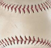 Image en gros plan du base-ball utilisé montrant l'usage photos libres de droits