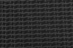 Image en gros plan monochrome de tapis noir de tiret avec des cellules de grille Image stock