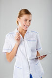 Image of an enthusiastic intern looking at camera Royalty Free Stock Images