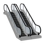 Image of escalator stairs Royalty Free Stock Image