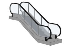 Image of escalator stairs Royalty Free Stock Photo
