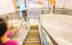 image of escalators at the modern shopping mall. Stock Photos