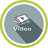 Image et logos visuels de media illustration stock