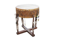 The image of ethnic American Indian drum Royalty Free Stock Photos