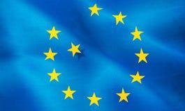 Image of European Union flag close-up Stock Image