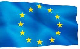 Image of European Union flag close-up Stock Images
