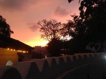Evening sundown in sri lanka royalty free stock photography