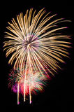 An image of exploding fireworks at night Royalty Free Stock Photo