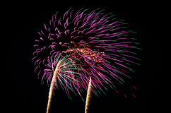 An image of exploding fireworks at night Stock Photo