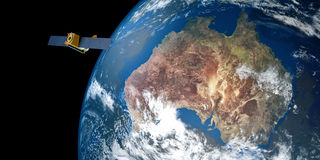 Image extrêmement détaillée et réaliste de la haute résolution 3D d'une terre orbitale satellite Tiré de l'espace Photo stock