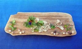 Image faite main avec des poissons et des usines utilisant des marchandises de mer, Lithuanie images libres de droits