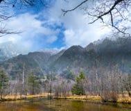 Image of fall season of kamikochi national park, Japan Royalty Free Stock Images