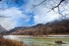 Image of fall season of kamikochi national park, Japan Stock Photography
