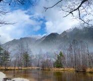 Image of fall season of kamikochi national park, Japan Royalty Free Stock Photography