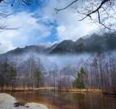 Image of fall season of kamikochi national park, Japan Royalty Free Stock Photo