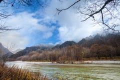 Image of fall season of kamikochi national park, Japan Stock Image