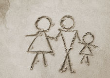 Image of family on sand Stock Photos