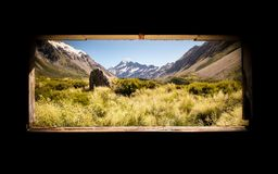 An image of the famous Mount Cook of New Zealand stock photo