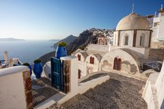 Thira, Santorini, Greece. Stock Photography