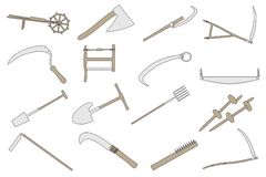 Image of farming tools Stock Image