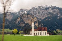 The church of neuschwanstein germany. This image features the beautiful and large church of neuschwanstein germany royalty free stock photography