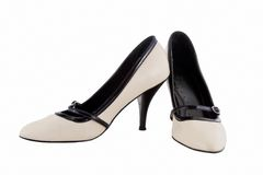 Image of female heels on a white background Royalty Free Stock Photo