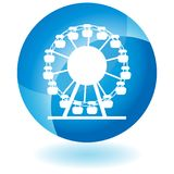 Ferris Wheel Button. An image of a Ferris Wheel Button isolated on white Royalty Free Illustration
