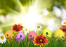 Festive Easter greeting card. Image of a festive Easter greeting card Royalty Free Stock Photo