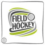 Image on the field hockey theme. Abstract image on the field hockey theme royalty free illustration
