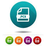 Image file icon. Download PCX symbol sign. Web Button. Eps10 Vector Stock Images