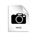 Image file icon. Isolated on white Stock Image