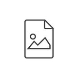 Image file line icon, outline logo illustration, linear p. Ictogram isolated on white vector illustration