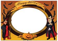 Photo frame. happy Halloween. stock illustration