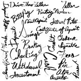 Financial Banking Calligraphy Text Set. An image of a Financial Banking Calligraphy Text Set. Made using brush tool and pen tablet Royalty Free Stock Images