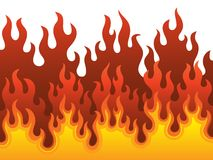 Image with fire theme 1. Vector illustration Stock Photography