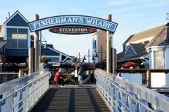 Fishermans Wharf at Steveston, BC royalty free stock images