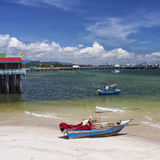 Hua Hin fishing town Stock Image