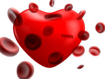 Image of the flow of blood and heart Stock Images