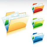 Image Folder Icon. A set of colorful image folder icon Stock Images