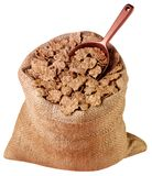 SACK OF BRANFLAKES CUT OUT stock images