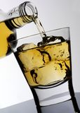POURING BOURBON WHISKEY stock images