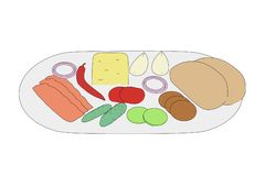 Image of food on plate Stock Photo