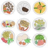 Image of food on plates Royalty Free Stock Photo