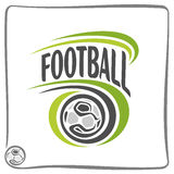 The image on the football theme Stock Photo