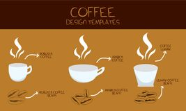 Coffe design template vector royalty free illustration