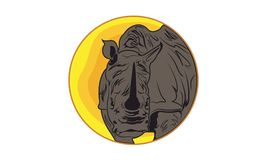 Animal Image Vector Rhino. Image in the form of jpeg file, with medium resolution and version used is illustrator cs 6 eps Stock Image